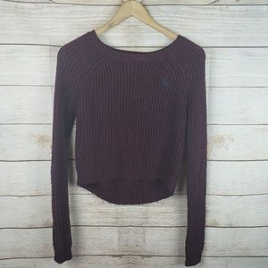 Abercrombie & Fitch | Maroon Knit Crop Top